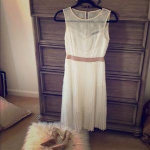 BCBG White dress perfect for wedding rehearsal